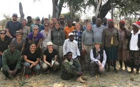Group photo in Botswana