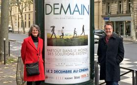 JRBP Directors Liz Hadly and Tony Barnosky at Paris screening of Demain