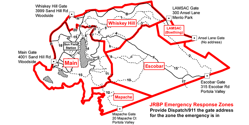 JRBP emergency response zones map