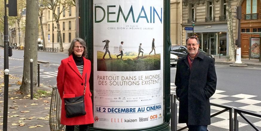 JRBP Directors Liz Hadly and Tony Barnosky at Paris screening of Demain