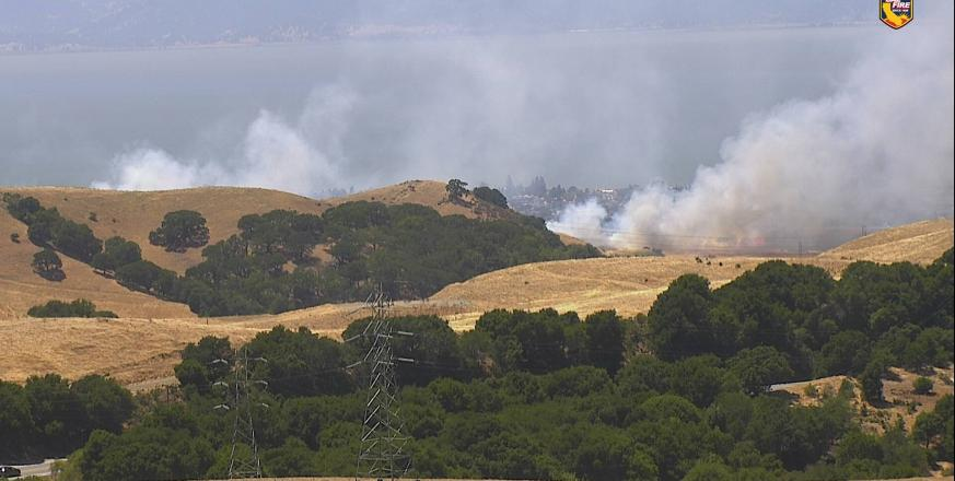 ALERTWildfire view of actual fire in progress