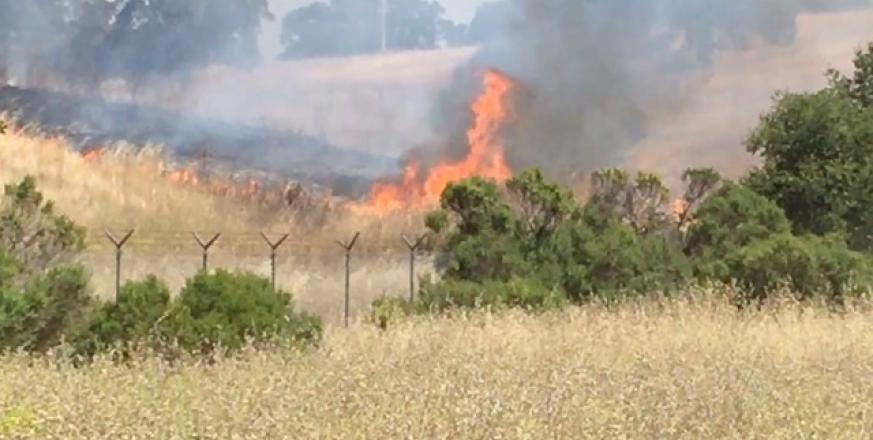 Wildfire burning near Jasper Ridge on June 25