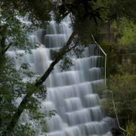 Full flow over Searsville Dam by Sonny Mencher