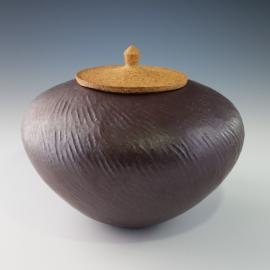Buckeye pot by Sally Jackson