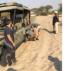 Stuck in the sand in Botswana