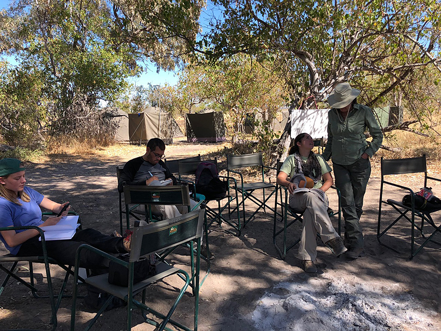 Camp in Botswana