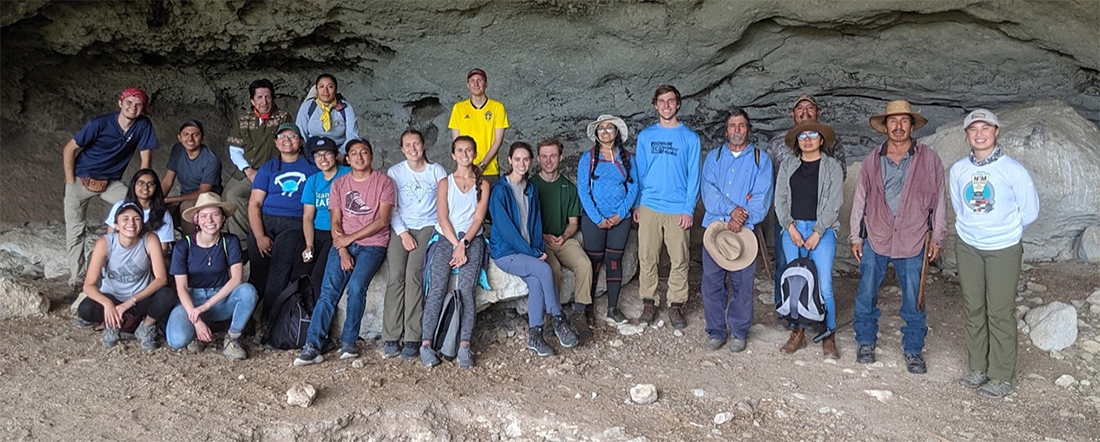 The 2019 BCD class and some of our local guides at Guila Naquitz cave.