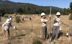 ACE crew dismantling the JRGCE