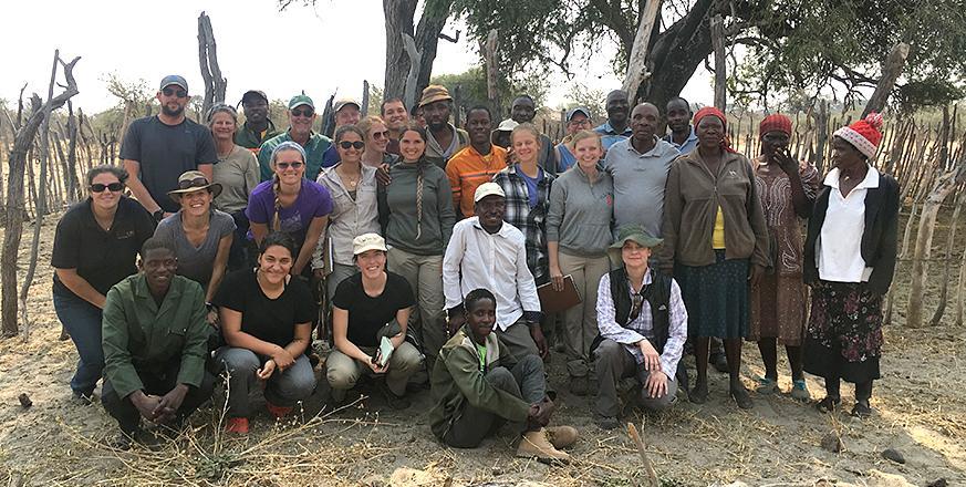 Group photo in Botswana