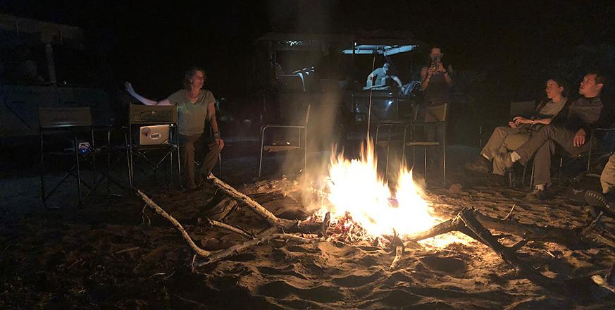 Learning around the campfire in Botswana