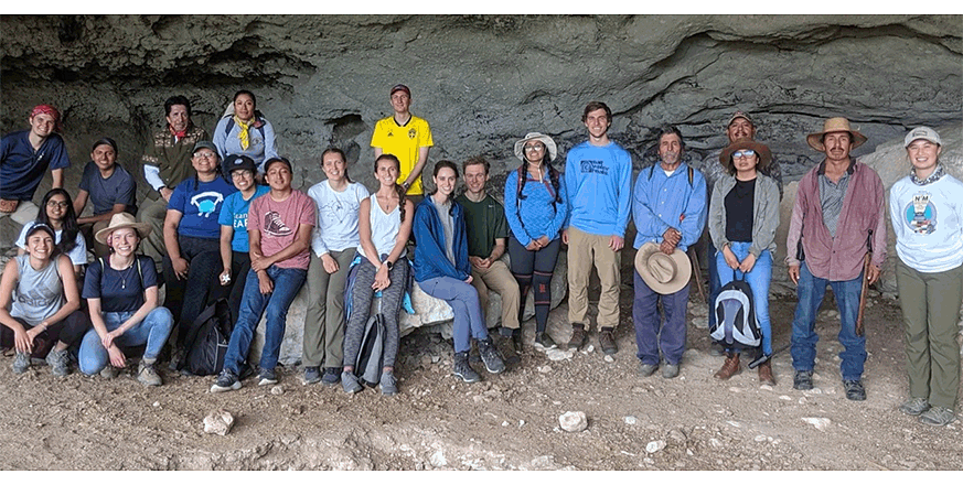 The 2019 BCD class and some of our local guides at Guila Naquitz cave