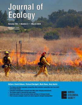Journal of Ecology cover photo of the JRGCE burn, by Philippe Cohen